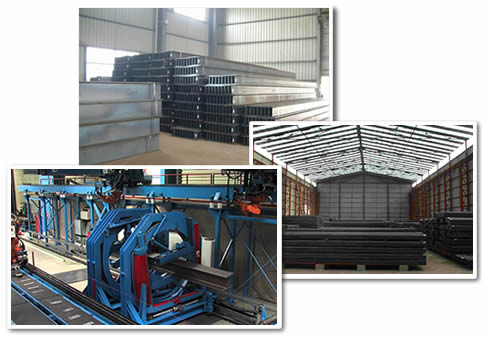 Jinshi company steel sections warehouse steel beams