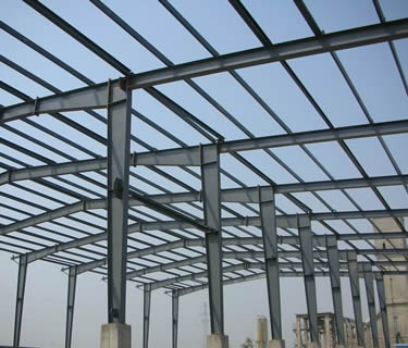 ASTM A36 Carbon steel I beam structure for a modern factory shop