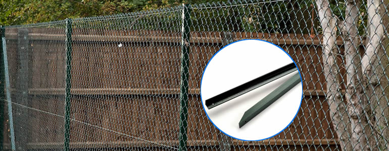 Green SS400 angle iron post for chain link fencing