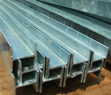 Hot-dip galvanized A992 wide flange beam