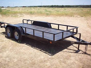 Angle iron popular for making utility trailer.